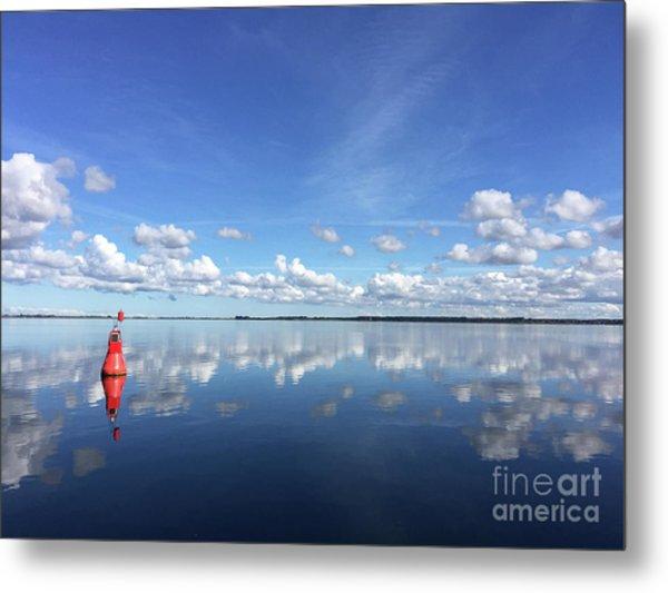 Wismar Bay In Fall Metal Print