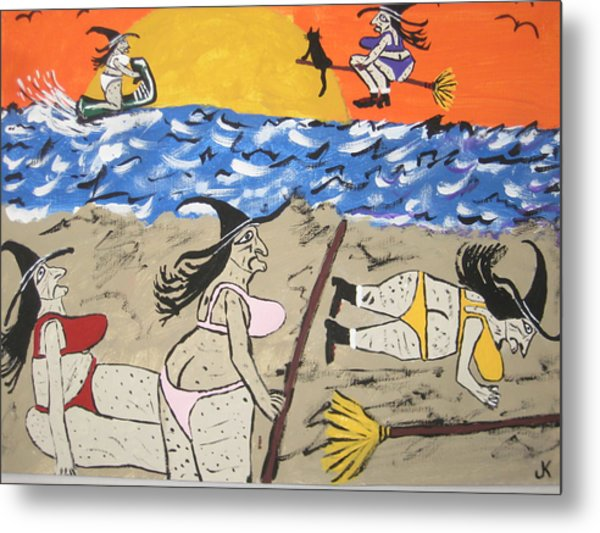 Witches Day At The Beach Metal Print