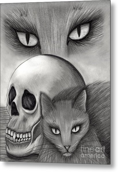 Witch's Cat Eyes Metal Print
