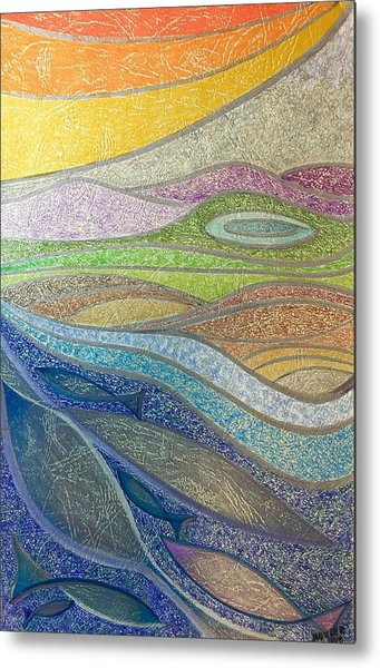 With The Flow Metal Print