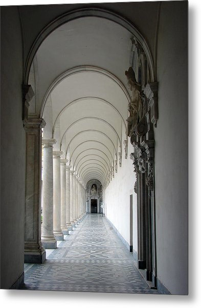 Within The Castle Walls Metal Print