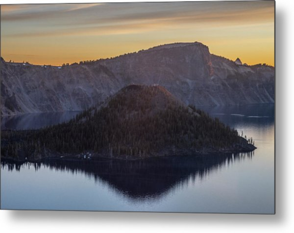 Wizard Island Morning Metal Print