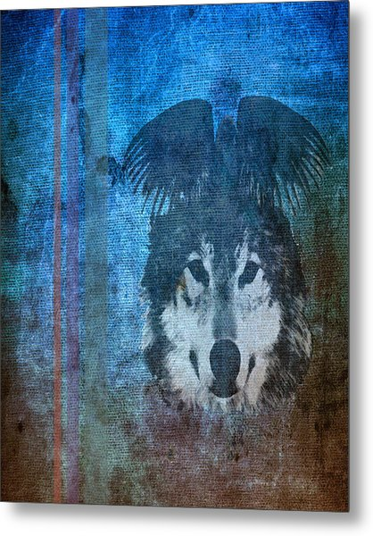 Wolf And Raven Metal Print