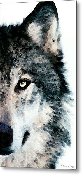 Wolf Art - Timber Metal Print