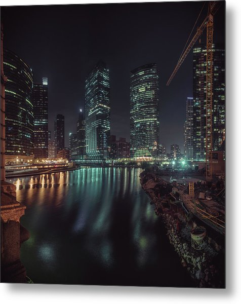 Wolf Point Night Metal Print