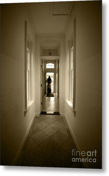 Woman At The Door Metal Print