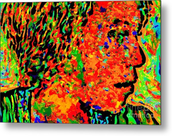 Woman In Doubt V Metal Print