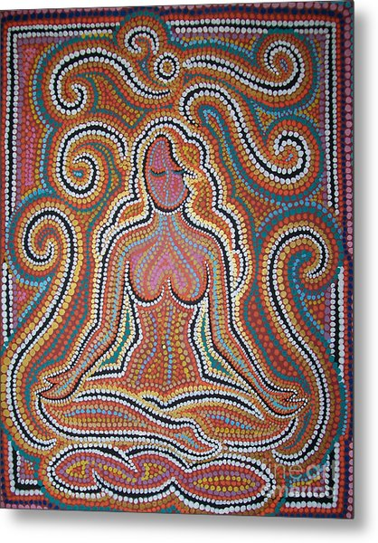 Woman In Meditative Bliss Metal Print by Carola Joyce