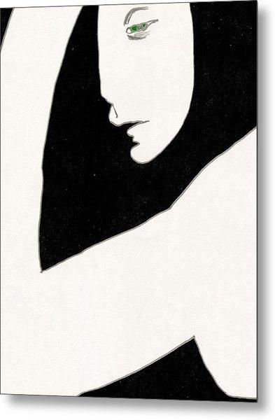 Woman In Shadows Metal Print