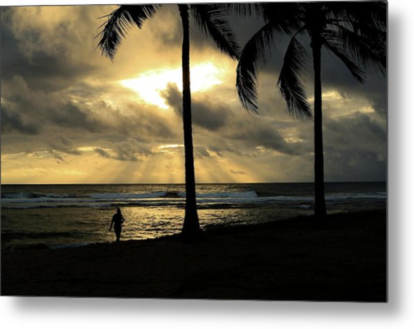 Woman In The Sunset  Metal Print
