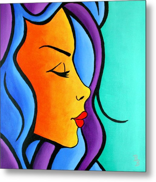 Woman Of Color, Eyes Closed Metal Print