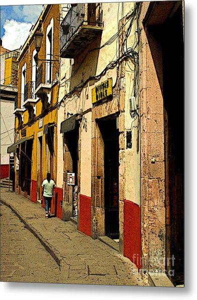 Woman On The Street Metal Print by Mexicolors Art Photography