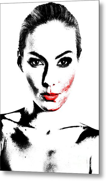 Woman Portrait In Art Look Metal Print