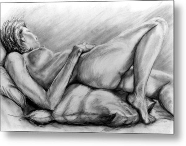 Woman Resting Metal Print by John Clum