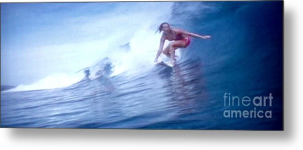 Woman Surfer Metal Print