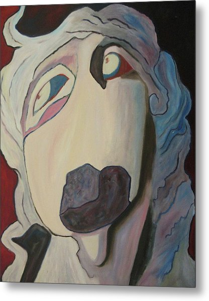 Woman Unable To Communicate Metal Print by Suzanne  Marie Leclair