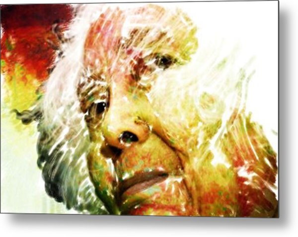 Woman With White Hair Metal Print by James VerDoorn