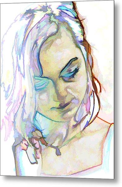 Women Body - Color Face1 Metal Print by Robert Litewka