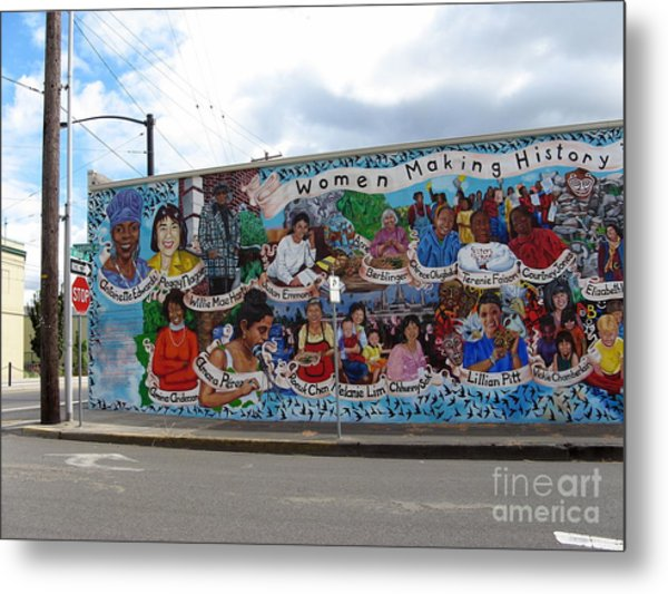 Women Making History Mural Metal Print