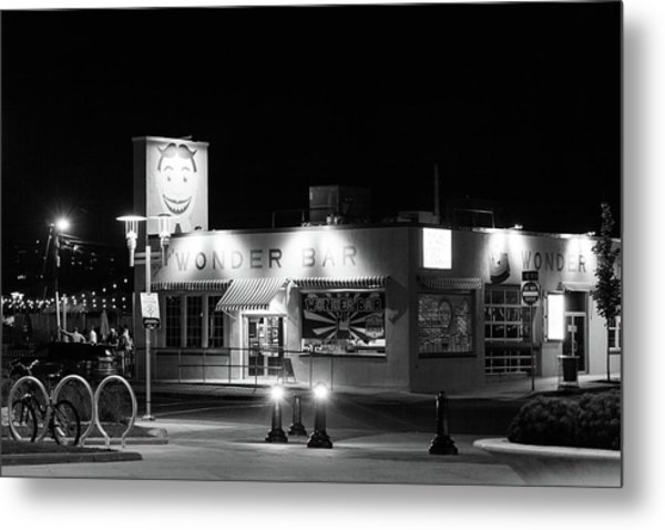 Wonder Bar At Night Metal Print by Erin Cadigan
