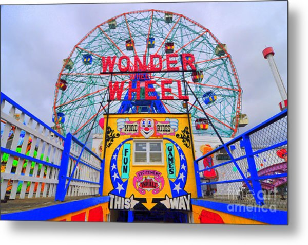 Wonder Wheel Metal Print
