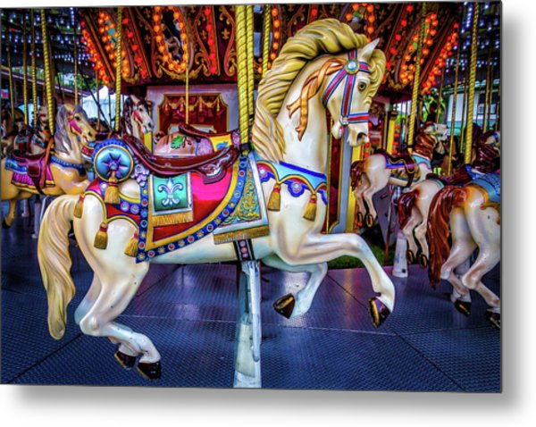 Wonderful Carrousel Horse Ride Metal Print