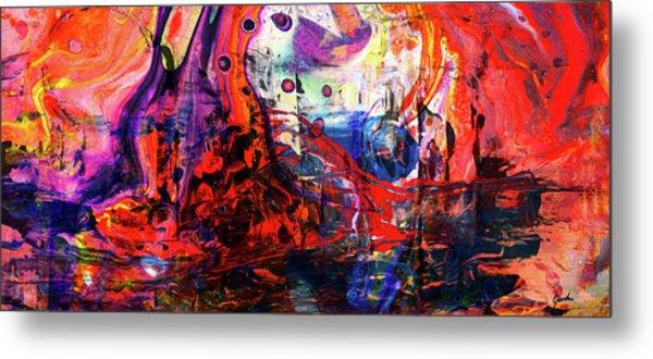 Wonderland - Colorful Abstract Art Painting Metal Print