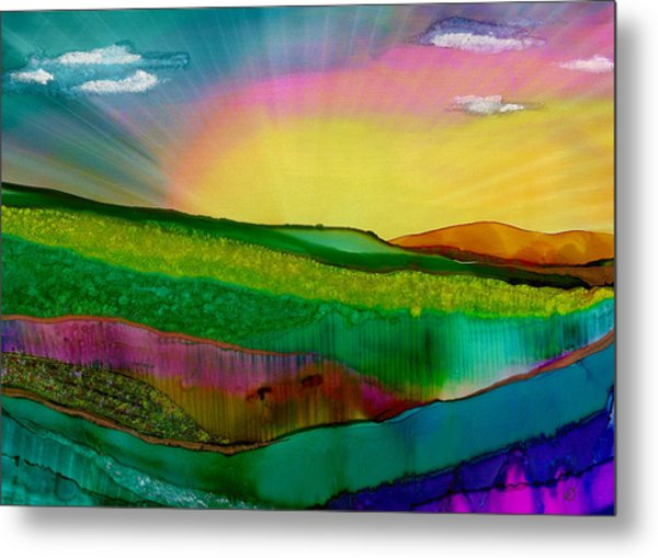Wonderland Of Salad Days Metal Print