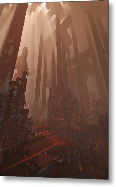 Wonders_temple Of Artmeis Metal Print