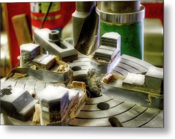 Wood Drill Bit Metal Print