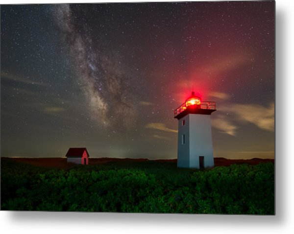 Wood End Nights Metal Print