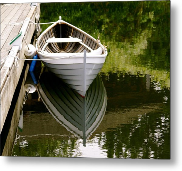 Wooden Boat Metal Print by Sonja Anderson