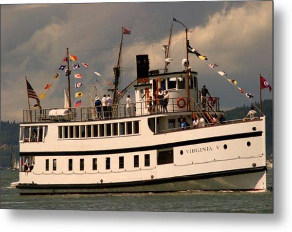 Wooden Boat Virginia V Metal Print by Robert Torkomian