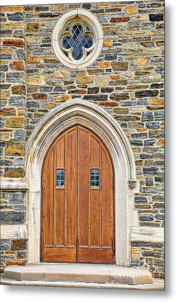 Wooden Doors Metal Print