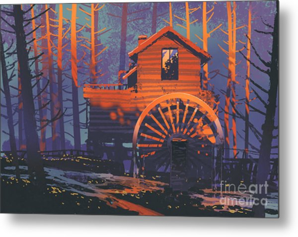 Wooden House Metal Print