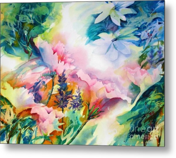 Woodland Bouquet Metal Print