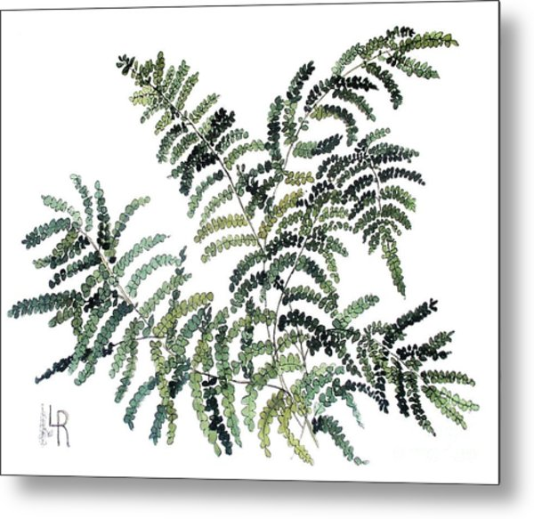 Woodland Maiden Fern Metal Print
