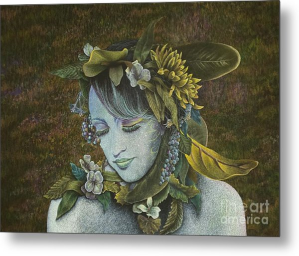 Woodland Nymph Metal Print