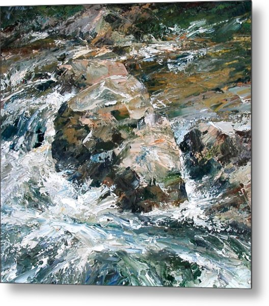 Woodland Waterway Metal Print
