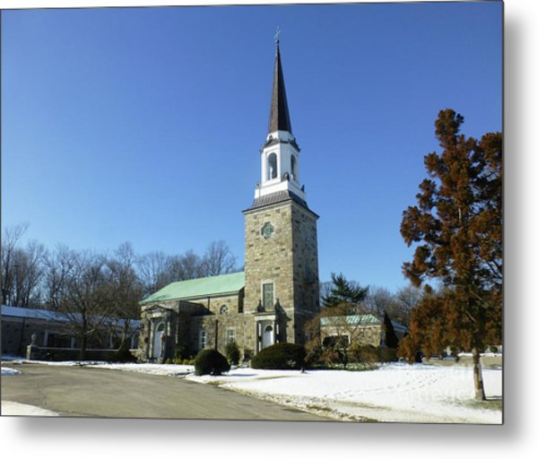 Woodlawn Cemetery Chapel Metal Print