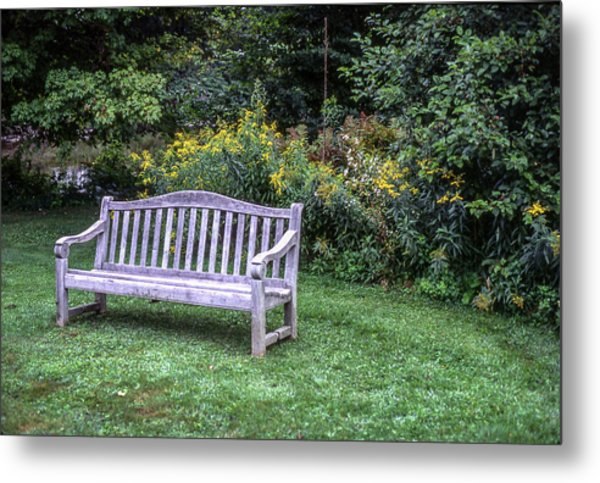 Woodstock Bench Metal Print