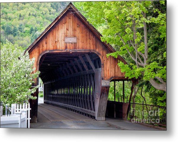 Woodstock Middle Bridge Metal Print