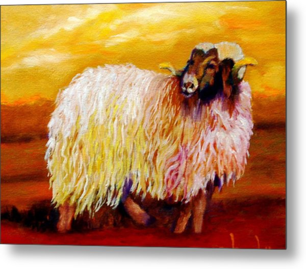 Woolly Metal Print by Marie Hamby