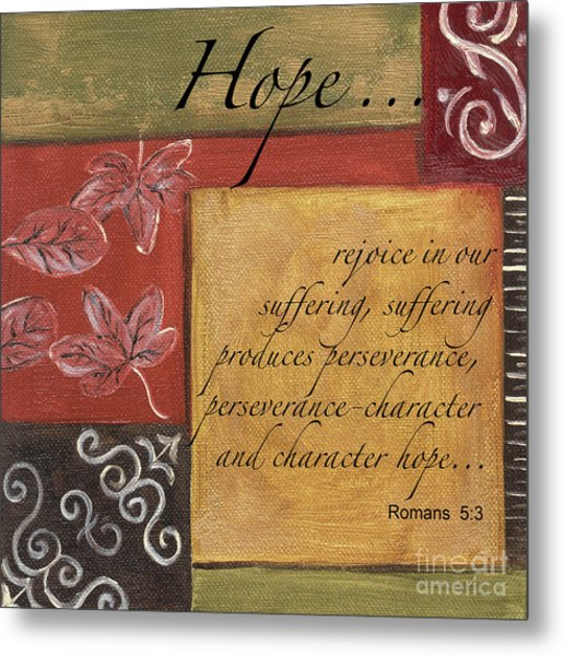 Words To Live By Hope Metal Print