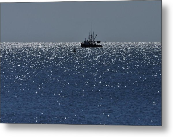Workday On The Sound Metal Print