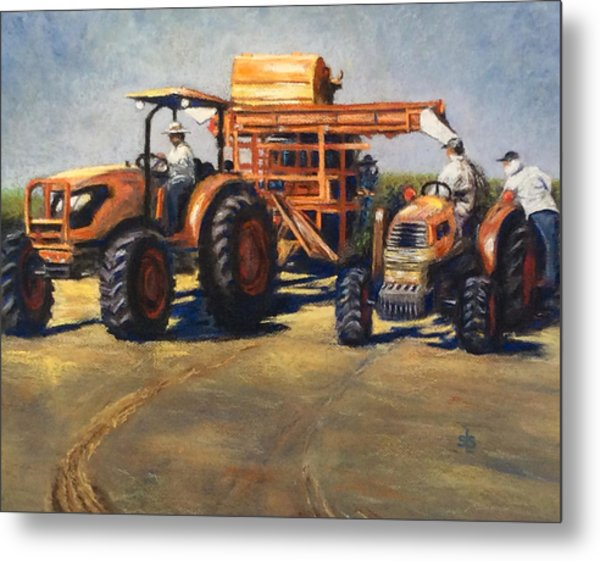 Workin' At The Ranch Metal Print