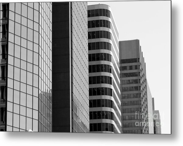 Working Downtown Metal Print