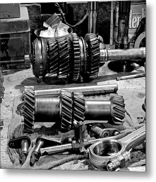 Working Gears Metal Print