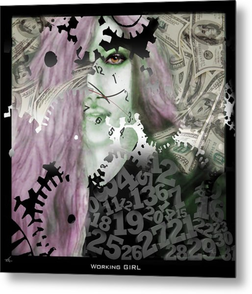 Working Girl Metal Print