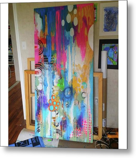 Working On A New Plywood..5 Ft X 3.5 Ft Metal Print